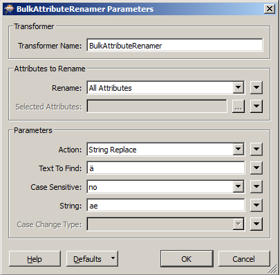 How to rename attributes to remove special signs? - FME