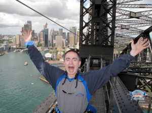 Here's me celebrating the simplicity of the GeoJSON standard in Australia.