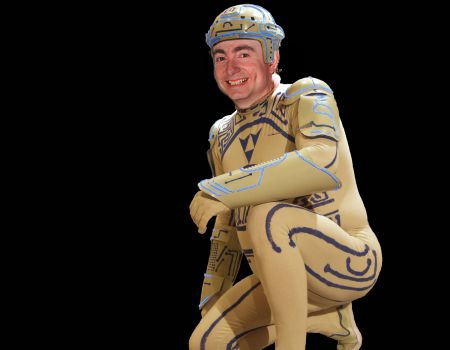 Rumour on the tradeshow floor was that the first Tesla Model S buyer would receive a free Tron suit.