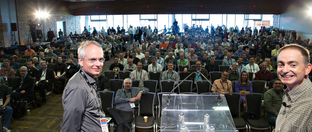 """Don and Dale """"looking back"""" on 20 years at the FME International User Conference 2014."""