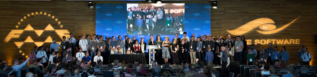 The entire Safe Software team on stage at the FME International User Conference 2014