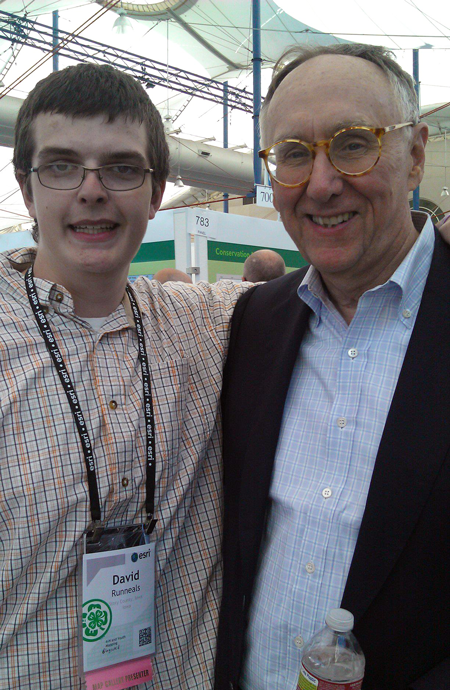 At the Esri UC with Jack Dangermond.