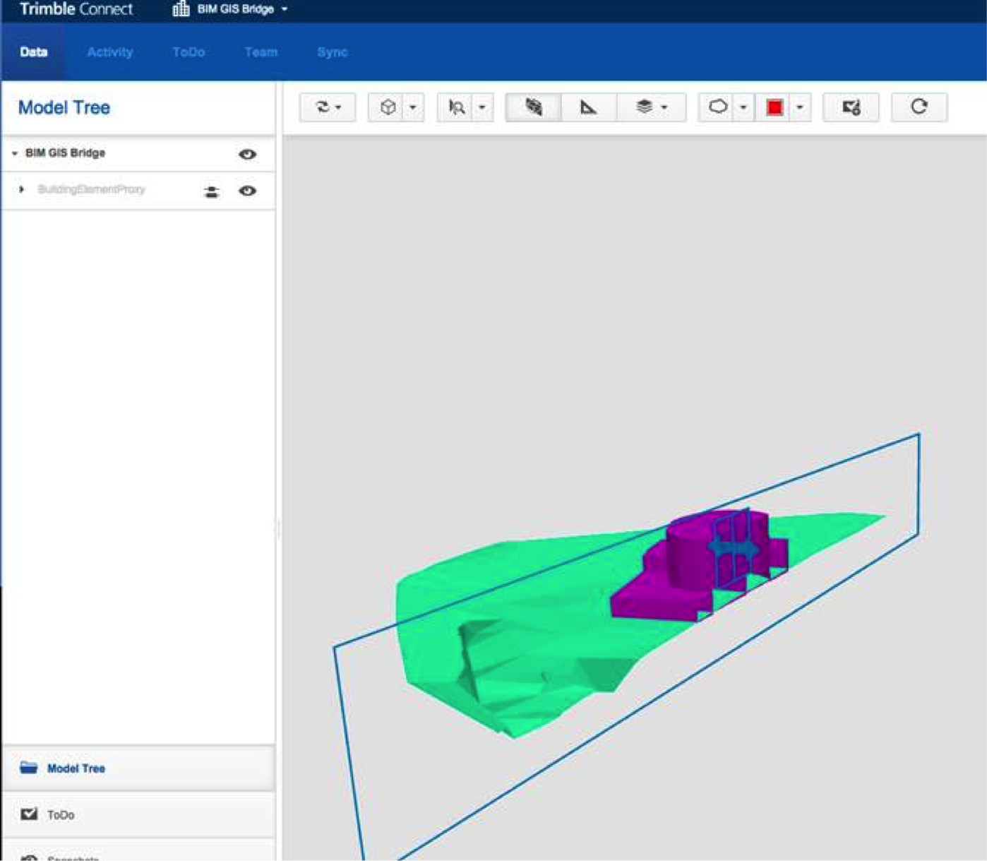 An FME-generated IFC model uploaded to Trimble Connect - in seconds.
