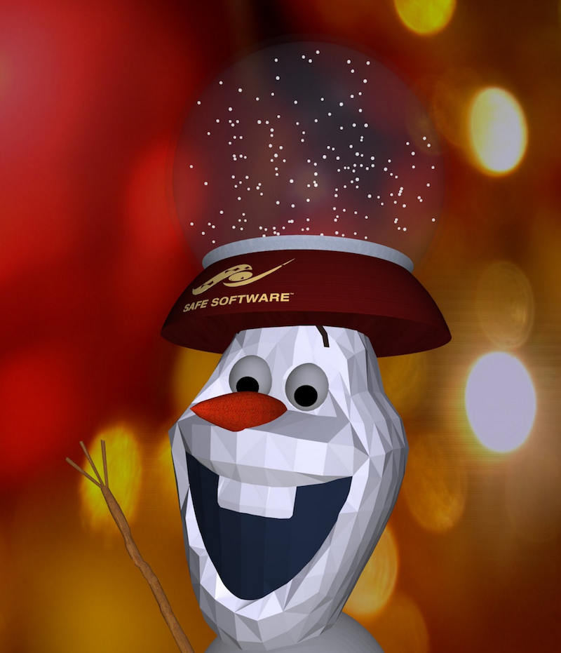 Olaf with a snow globe hat - oops