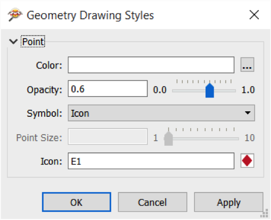 FME Data Inspector drawing styles