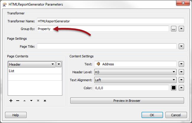 HTMLPointInPolygonHTMLReportGenerator