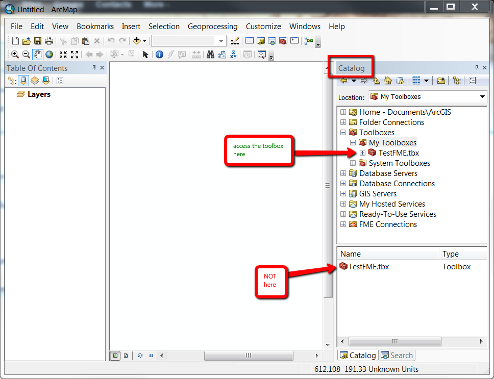 Catalog Tree in ArcMap