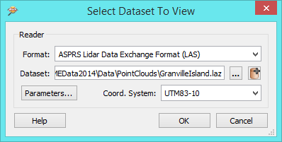 open dataset dialog
