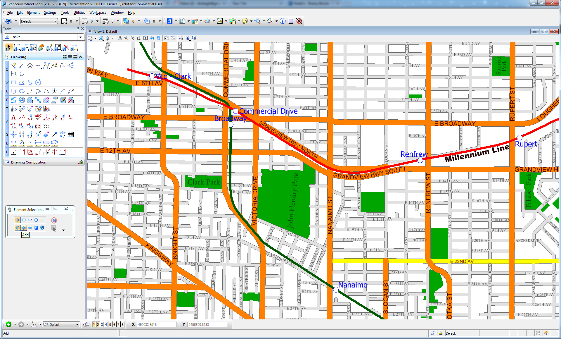 Vancouver Streets output DGN