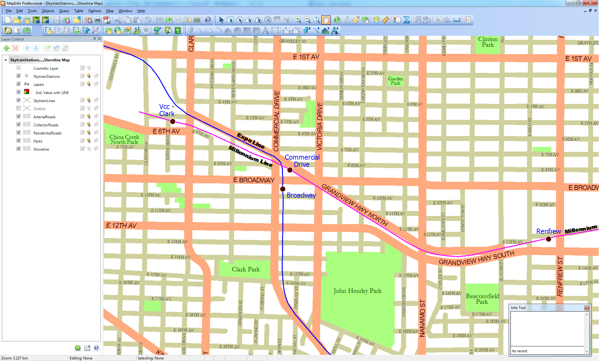Vancouver Streets output MapInfo