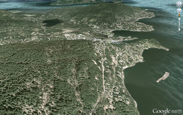 Bowen Island in Google Earth