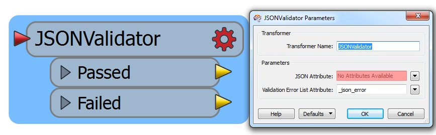JSON Validator transformer in FME.