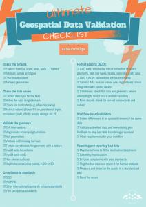 Data QA Checklist