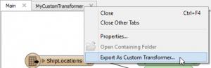 Custom transformer export