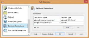 Database named connections