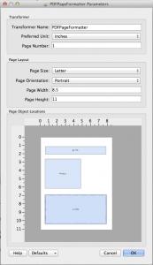 PDFPageFormatter parameters