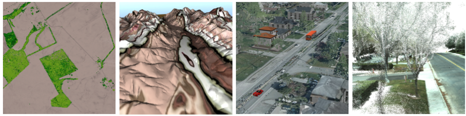 Typical uses of point clouds.