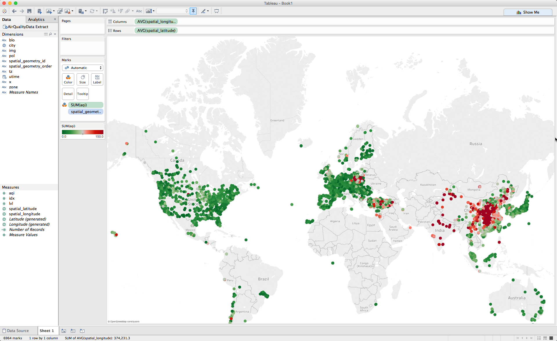 Spatial analysis workflow in Tableau
