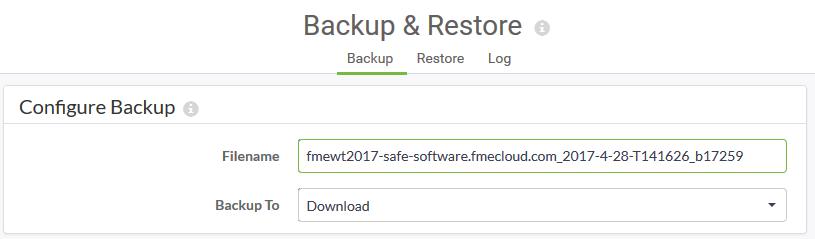 Backup and Restore Dialog