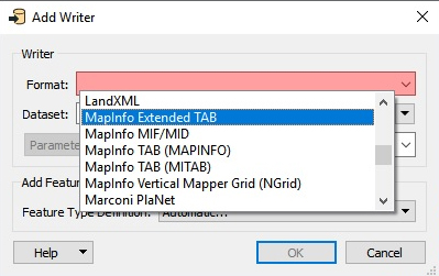 MapInfo Extended TAB Format example image
