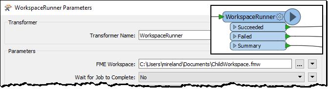 WorkspaceRunner parameters