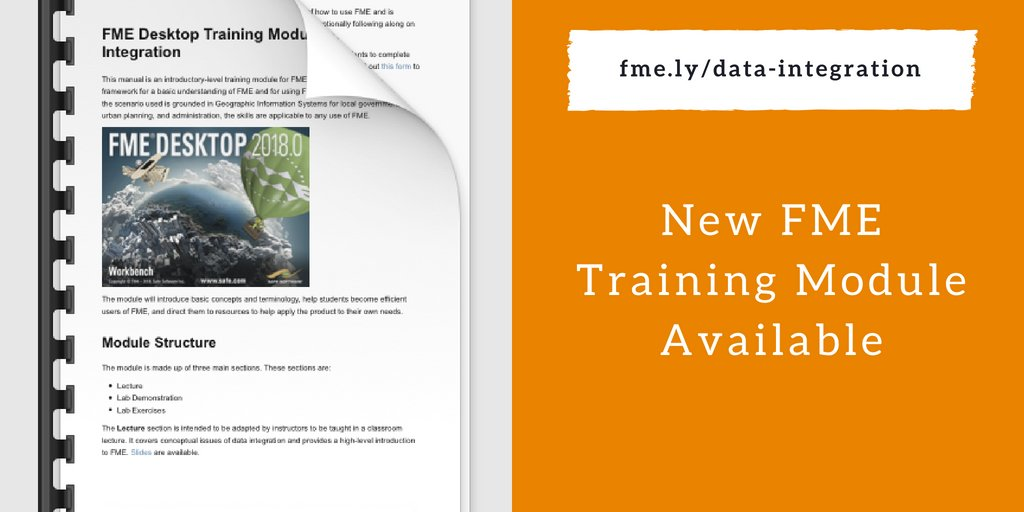Fme For Higher Education New Data Integration Training Module Safe Software
