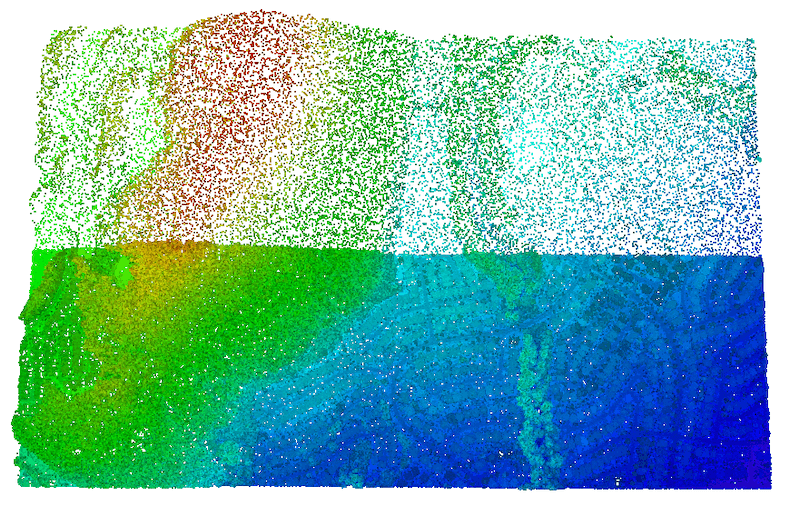Shows point clouds can be thinned by uniformly removing points from the dataset.